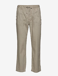 M. Theodore Linen Trouser - casual trousers - grey beige