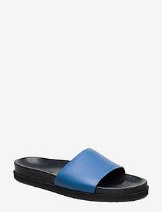 Logan Crepe Sandal - flat sandals - sapphire b