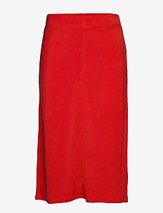 Margaret Skirt - midi-röcke - red orange