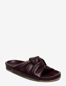 Brea Sandal - flat sandals - dk burgund