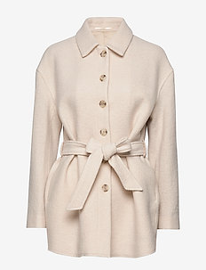 Lima Coat - wool coats - ivory