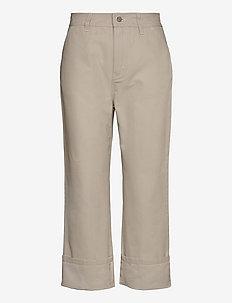 Janet Trouser - bukser med brede ben - ivory