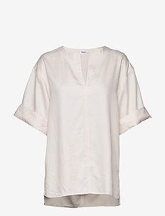 Flora Blouse - short-sleeved blouses - faded pink