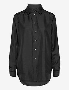 Jennie Shirt - long-sleeved shirts - black