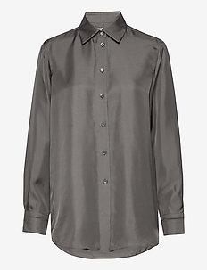 Jennie Shirt - langærmede skjorter - green grey