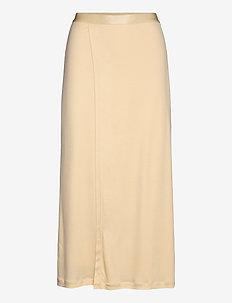 Viola Skirt - lange rokken - dune beige