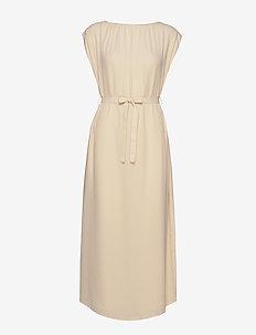 Alyssa Dress - midi dresses - dune beige