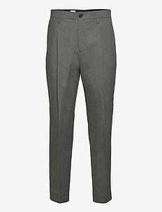 M. Samson Linen Trouser - suit trousers - green grey