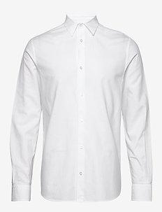 M. Lewis Linen Shirt - basic shirts - white