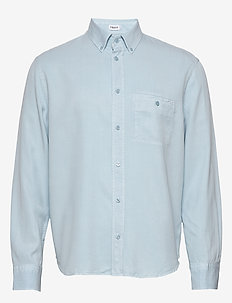 M. Zachary Tencel Shirt - chemises basiques - pale blue