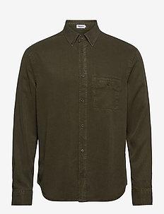 M. Zachary Tencel Shirt - basic shirts - pine green
