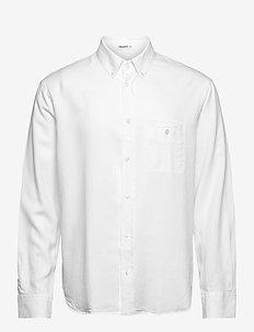M. Zachary Tencel Shirt - basic shirts - white