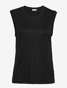 Vendela Top - sleeveless tops - black