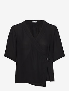 Reagan Blouse - short-sleeved blouses - black