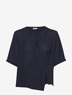 Reagan Blouse - short-sleeved blouses - ink blue