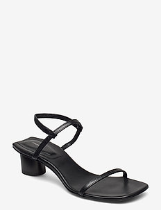 Livia Low Sandal - heeled sandals - black