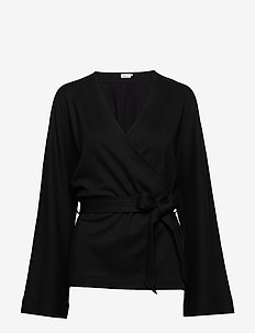 Jaycee Belted Top - blouses à manches longues - black