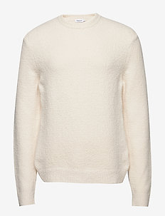 M. Matthew Sweater - basic strik - off-white