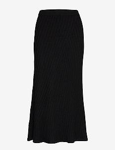 Fay Skirt - midi rokken - black