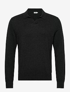M. Lars Sweater - basic gebreide truien - dark spruc