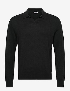 M. Lars Sweater - basic strik - dark spruc