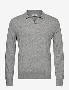 M. Lars Sweater - basic gebreide truien - light grey