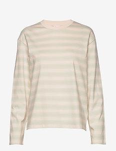 Linnett Top - pitkähihaiset t-paidat - faded aqua