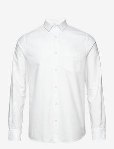 M. Tim Oxford Shirt - basic shirts - white