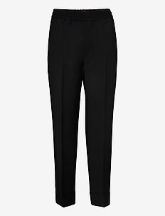 Franca Cool Wool Trouser - casual trousers - black