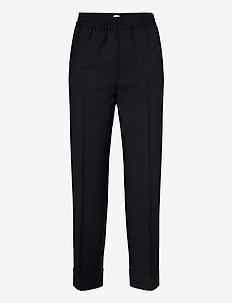 Franca Cool Wool Trouser - casual bukser - navy