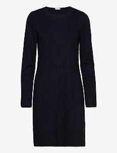 Carla Dress - knitted dresses - navy