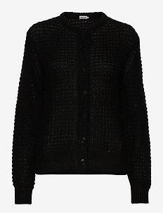 Freya Mohair Cardigan - cardigans - black