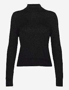 Lynn Silk Mix Sweater - poolopaidat - black