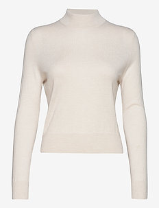 Lynn Silk Mix Sweater - polotröjor - ivory