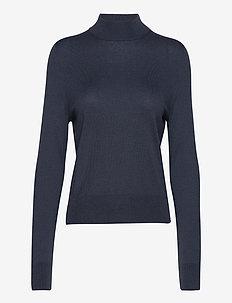 Lynn Silk Mix Sweater - rolkraagtruien - pacific bl