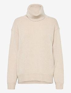 Molly Roll-Neck Sweater - turtlenecks - ivory