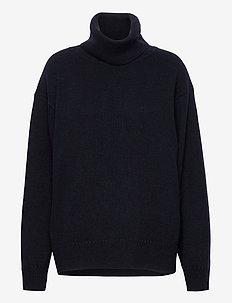 Molly Roll-Neck Sweater - turtlenecks - navy