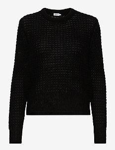 Helen Mohair Sweater - truien - black