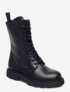 Krisha Laced Boot - niski obcas - black