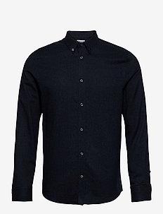 M. Lewis Flannel Shirt - casual overhemden - dark blue