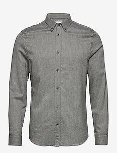 M. Lewis Flannel Shirt - casual shirts - grey melan