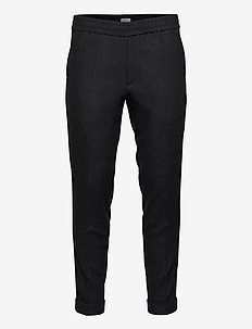 M. Terry Flannel Trouser - pantalons décontractés - dark grey