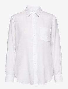 Daphne Shirt - langærmede skjorter - white