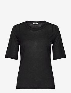 Elena Tencel Tee - t-shirts - black