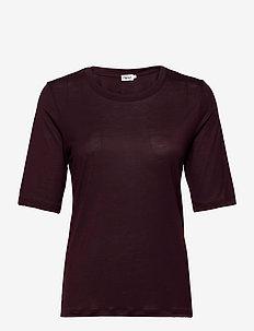 Elena Tencel Tee - t-shirts - maroon