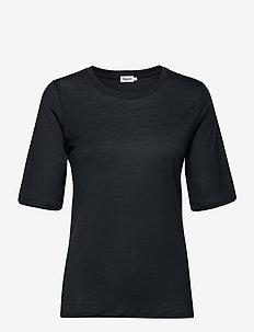 Elena Tencel Tee - t-shirts - pacific bl