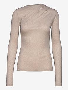 Isa Top - trøjer - sand beige
