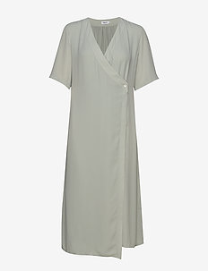 Amalia Wrap Dress - omslagskjoler - green fog