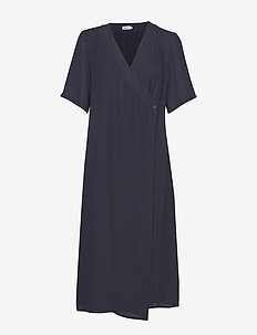 Amalia Wrap Dress - omslagskjoler - ink blue