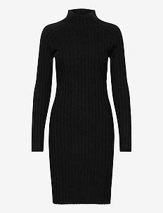 Selena Dress - midi dresses - black